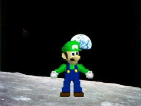 Luigi ascends into outer space