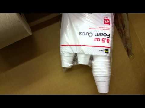 Styrofoam cup dispenser