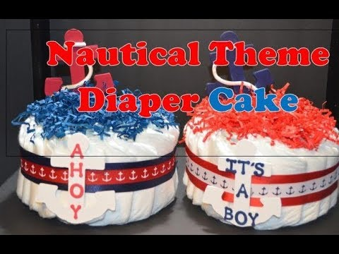 Diaper Cake For Boy Baby Shower Nautical Theme