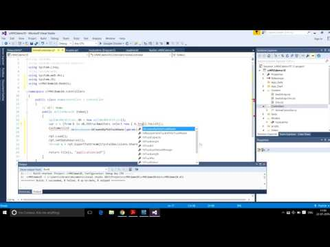 C Simplify IT: How to create Crystal report using Visual Studio, MVC report part2