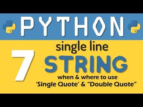 Python tutorial 07: Single Line String in Python Programming By Manish Sharma