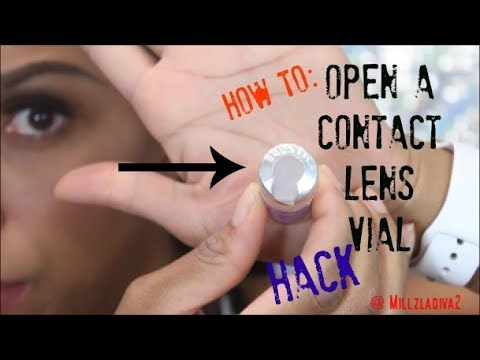 How to: Open Contact Lens Vile Hack  | No Blood!