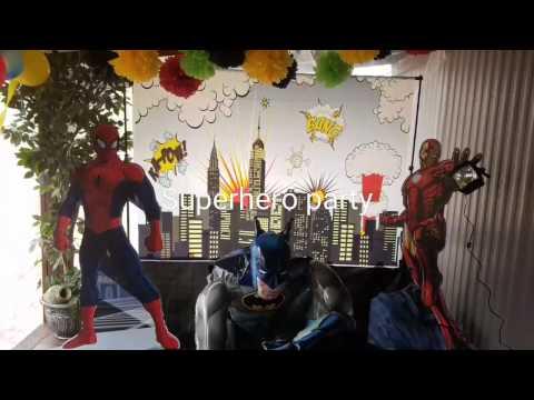 Superhero birthday party 💭👊 fiesta de super heroes