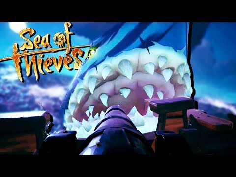 MEGALODON ATTACK and The Hunt for Meg!- Sea of Thieves Hungering Deep