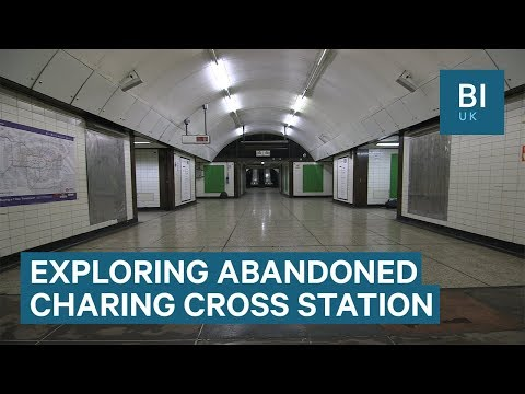Inside The Abandoned Part Of London's Charing Cross Underground Station