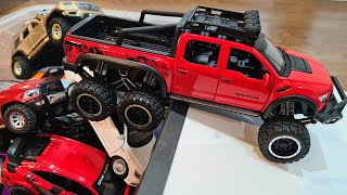 Diecast Model Cars Of Various Brands And Sizes Moving Out Of The Box 4K video