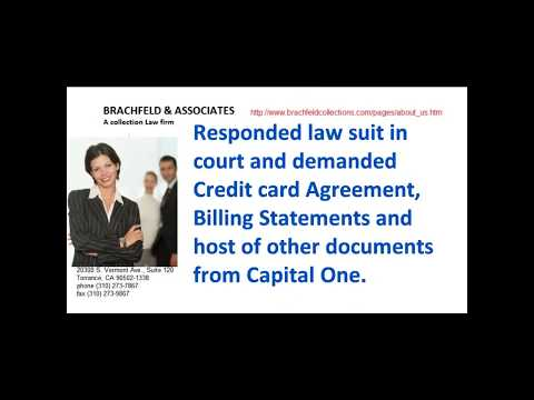 How I fought back Capital One Lawsuit and won