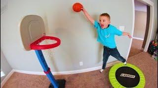 FATHER SON TRAMPOLINE BASKETBALL!