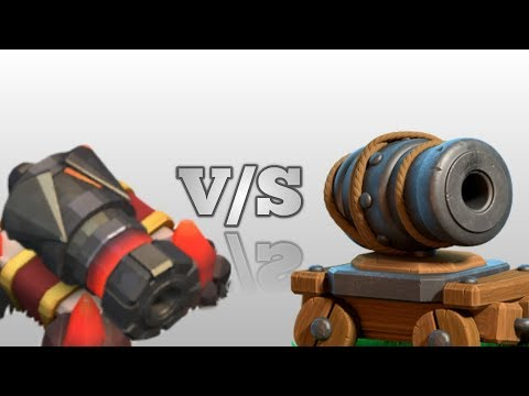Canon V/S Mini Sparky | Special Ability Of Mini Sparky | Clash Of Clans | Awesome Experiment.