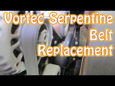 DIY GMC Chevy Vortec Serpentin Belt Install How to Replace a Serpentine Belt Silverado Blazer Sierra