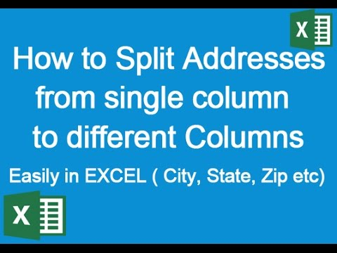 LEARN EXCEL: How to Split Addresses from one Column to Multiple Columns easily in Excel