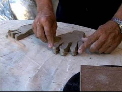 How to Make a Sculpture of Human Hands : Sculpting the Basic Shape of a Clay Hand Sculpture