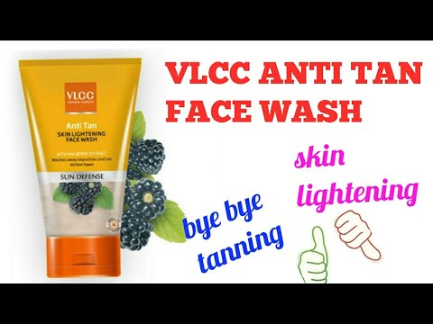 VLCC ANTI TAN SKIN LIGHTENING FACE WASH || how to remove sun tan | best face wash for reducing tan