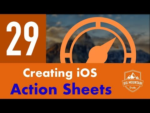 Actions Sheets - Part 29 - Itinerary App (iOS, Xcode 10, Swift 4)