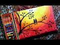 Download How to draw LOVEBIRDS in a sunset  by oil pastel step by step. MP3,3GP,MP4