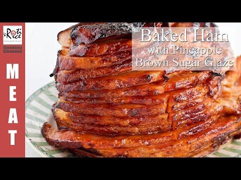 Baked Ham With Pineapple Brown Sugar Glaze Roti N Rice