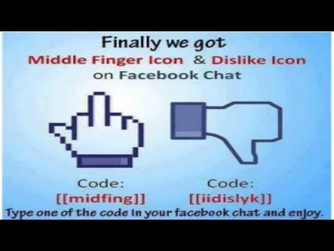 How to Add Middle Finger and Dislike Emoticon in Facebook Chat