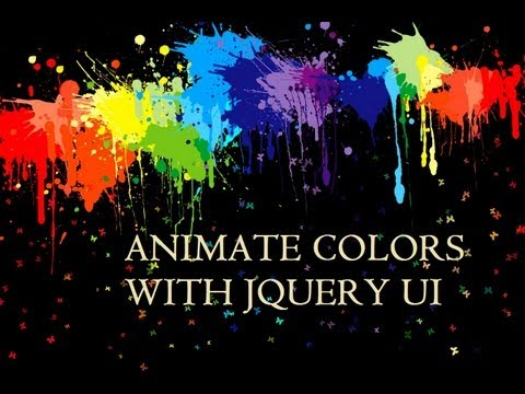 Using JQuery UI to Animate Colors