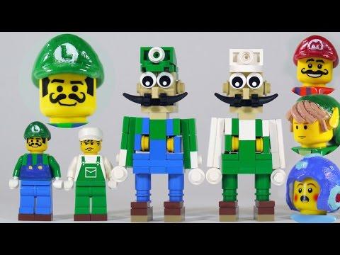 How To Build LEGO Luigi (+ new Mario, Link & Mega Man)