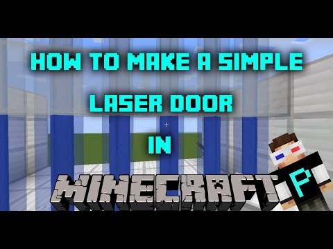 How To Make A Simple Beacon Laser Door In MINECRAFT PC