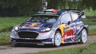 Ford Fiesta WRC Sound - Ogier, Tanak & Evans in Action at Rallye Deutschland!