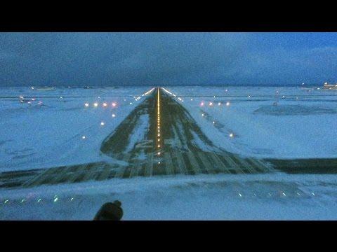 Winter Landing in Keflavik Iceland