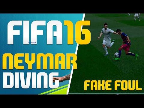 FIFA 16 NEYMAR DIVING FAKE FOUL FLOPPING SIMULATION