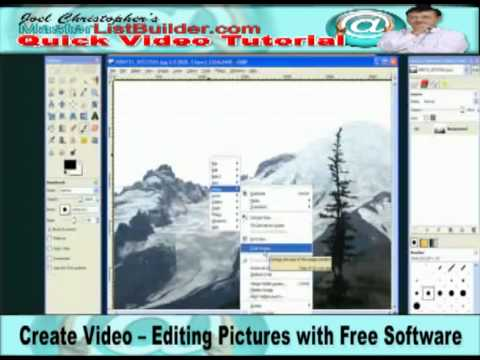 Create Video – Editing Pictures with Free Software