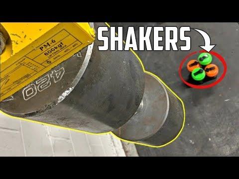 420LB DUMBBELL vs SHAKER BOTTLES! (World's HEAVIEST Dumbbell)