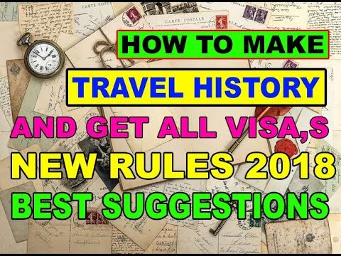 How To Make Best Travel History in Urdu 2018 BY PREMIER VISA CONSULTANCY