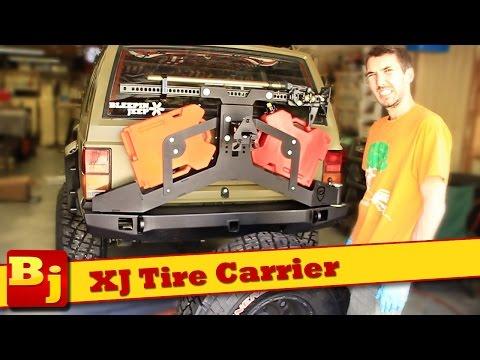XJ Rear Tire Carrier Install - JcrOffroad