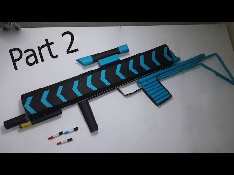 |DIY | How to make a paper' ANACONDA  MACHINE GUN' that shoots paper bullets-PART-2- By Dr. Origami