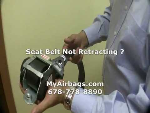 Seat Belt Pre-Tensioner Not Retracting? Repair Rebuild Fix Cut Ripped Locked, MyAirbags.com