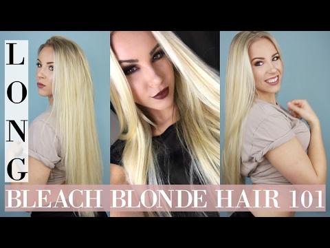 Bleach Blonde Hair 101: Grow Long, Healthy, Thick, Color Treated Hair