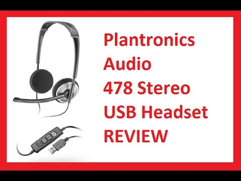 USB Headset With Microphone Review - Plantronics Audio 478 Stereo
