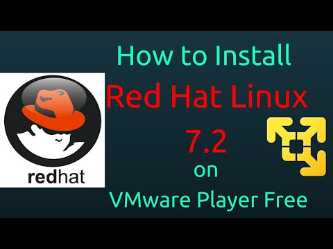 How to Install Red Hat Linux 7.2 on VMware Player Free [Subtitle] [HD]