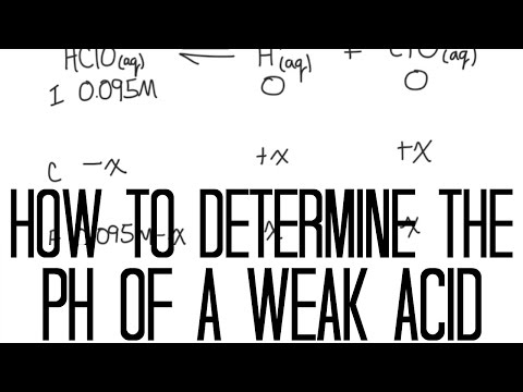 How to Determine pH of a weak acid using Ka and ICE Chart
