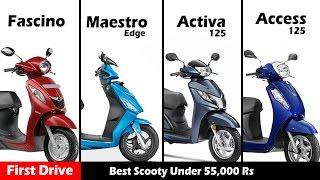 """Compare: """"Honda activa 125"""" vs """"Suzuki access125 """"vs """"Maestro edge"""" vs"""" Yamaha fascino"""""""