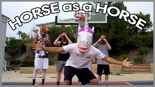 HORSES PLAY BASKETBALL!! 2 HYPE IRL BASKETBALL CHALLENGE
