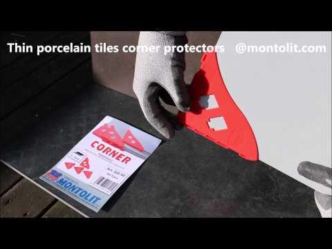 Thin Porcelain Tiles corner protectors by Montolit