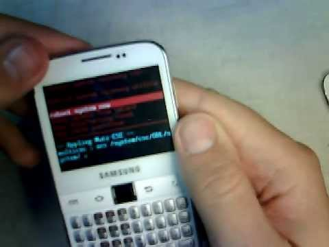 Samsung Galaxy Y Pro B5510 hard reset