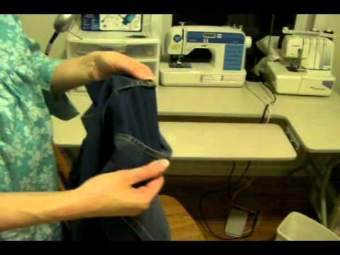 Adding an Inset into a Skirt Slit to Make it Modest