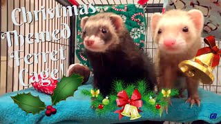 Christmas Themed Ferret Cage Tour (December 2017)