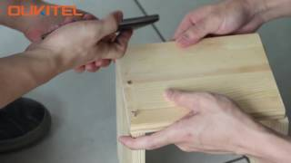 OUKITEL K4000 Lite challenges to make a wooden stool