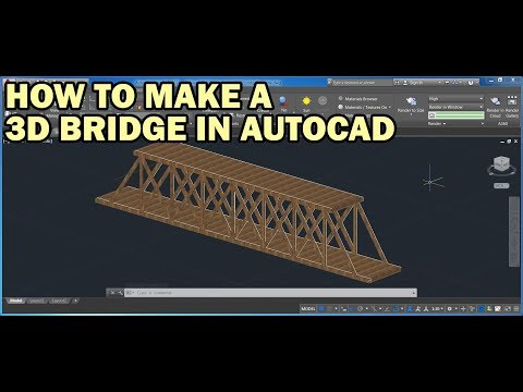 How to draw a 3D bridge from a 2D drawing in AutoCAD fast and easy tutorial