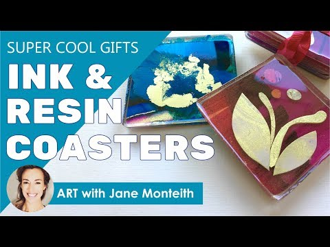 Super Cool Alcohol Ink & Resin Drink Coasters!