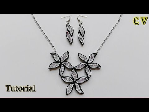 How to Make Quilling Paper Pendant / Paper Jewellery Making / Quilling Pendant / DIY 7
