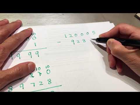 Elementary Math - subtraction, 3rd grade arithmetic ASMR