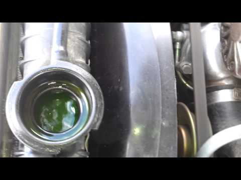 Radiator bubbles or normal coolant flow ???
