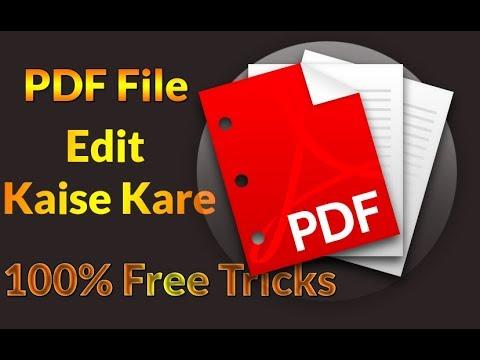 How to Edit PDF File ? PDF File Free Me Edit Kaise Kare Full Guide In Hindi